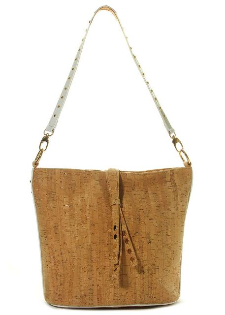 Marmi Exclusive 723 Cork With White Patent Bucket Bag