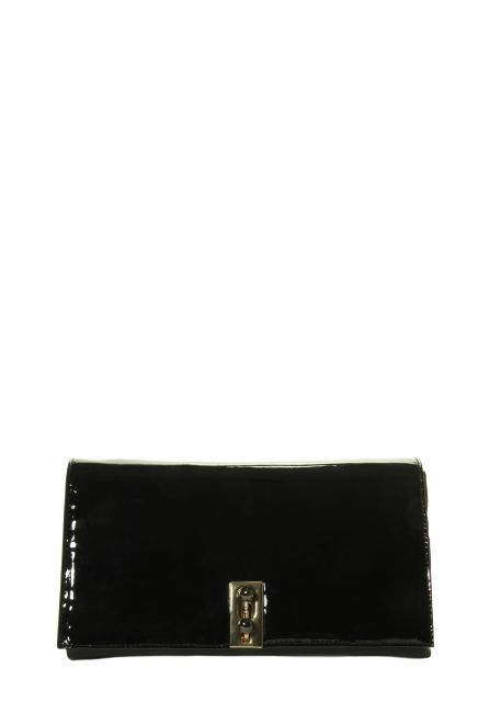 Marmi Exclusive Black Patent Clutch