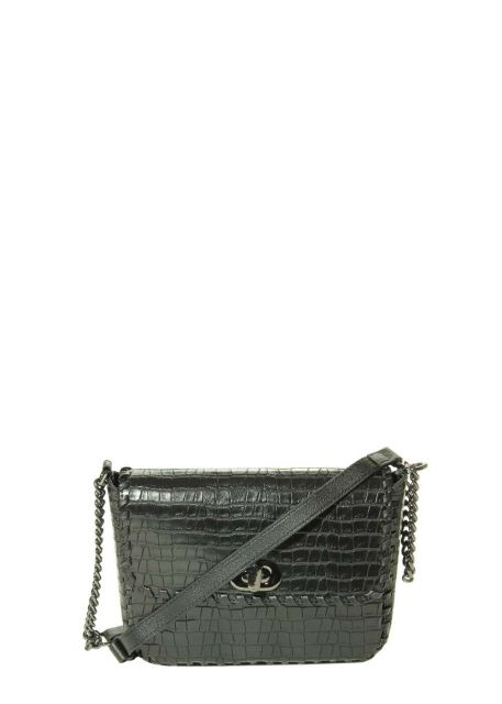 Marmi Exclusive Jane Black Croco Print Crossbody