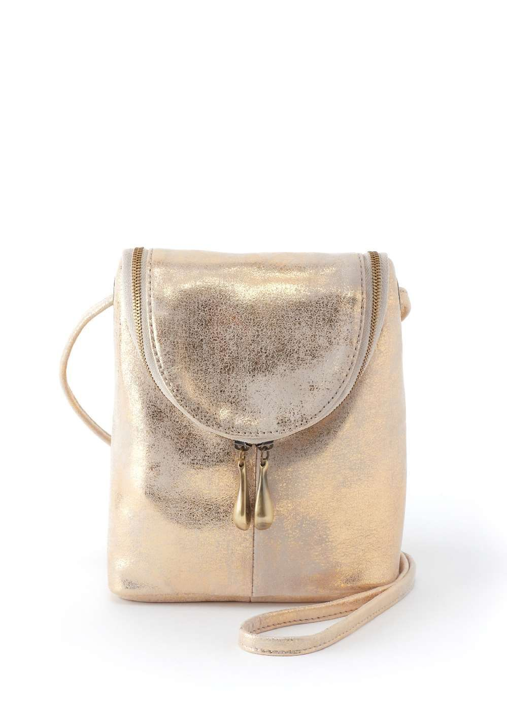 Hobo Fern Distressed Gold Crossbody