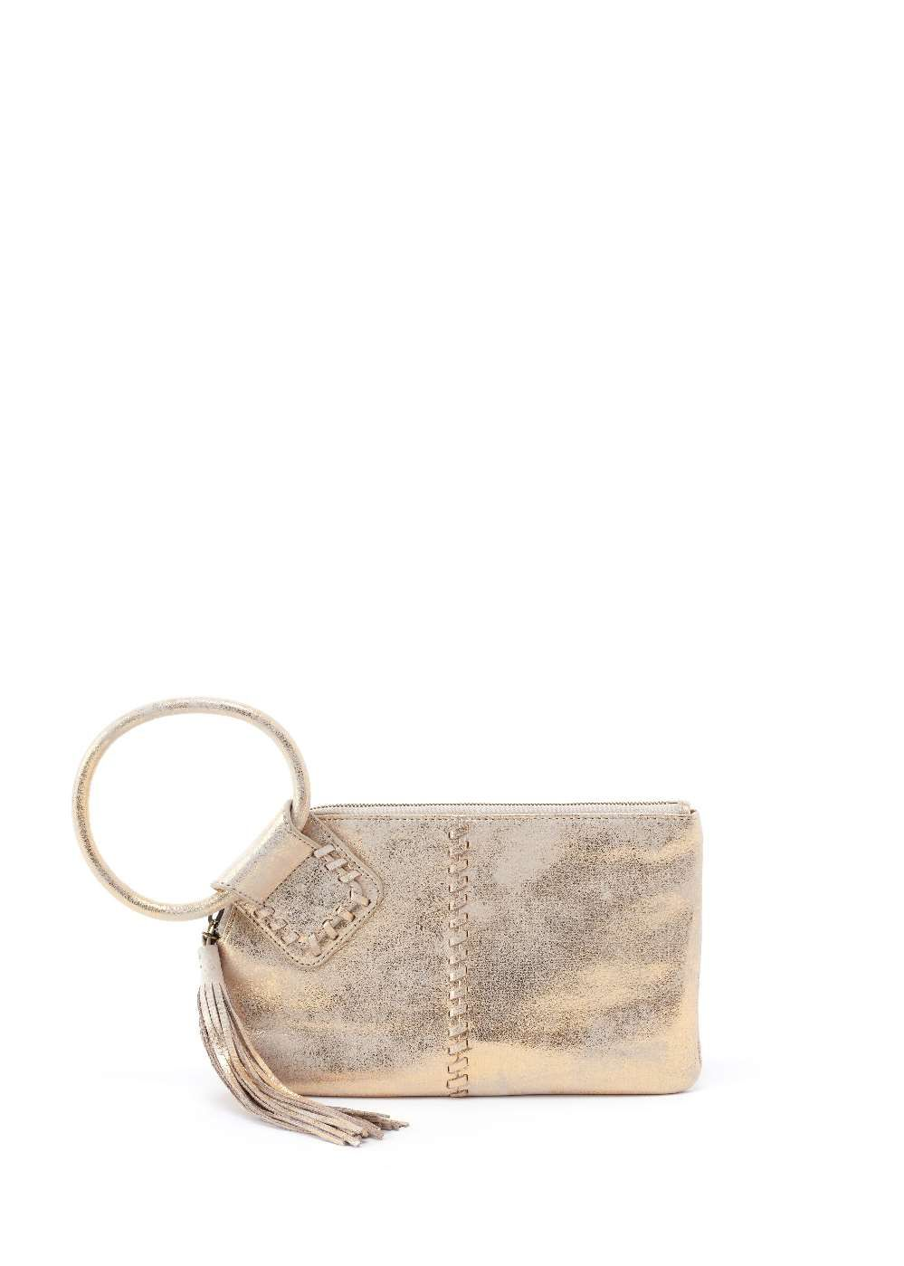 Hobo Sable Distressed Gold Wristlet Clutch