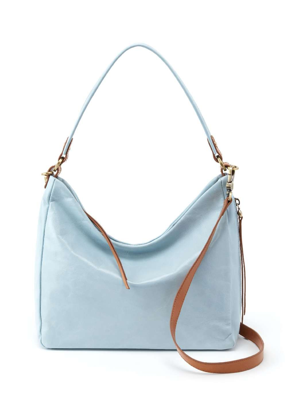 HOBO Delilah Whisper Blue Crossbody Shoulder Bag