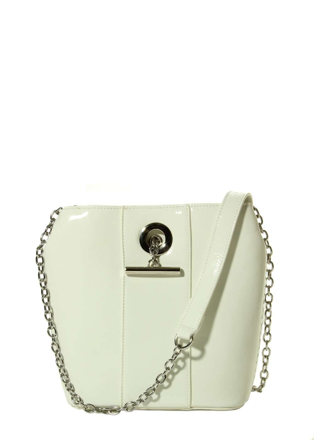 Marmi Exclusive White Patent Bucket Bag