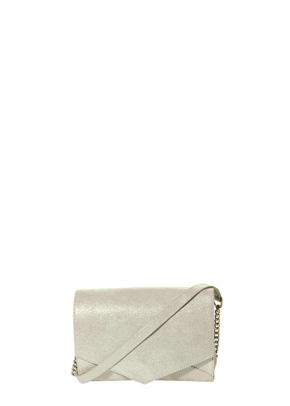 Marmi Exclusive Montage Silver Metallic Print Crossbody
