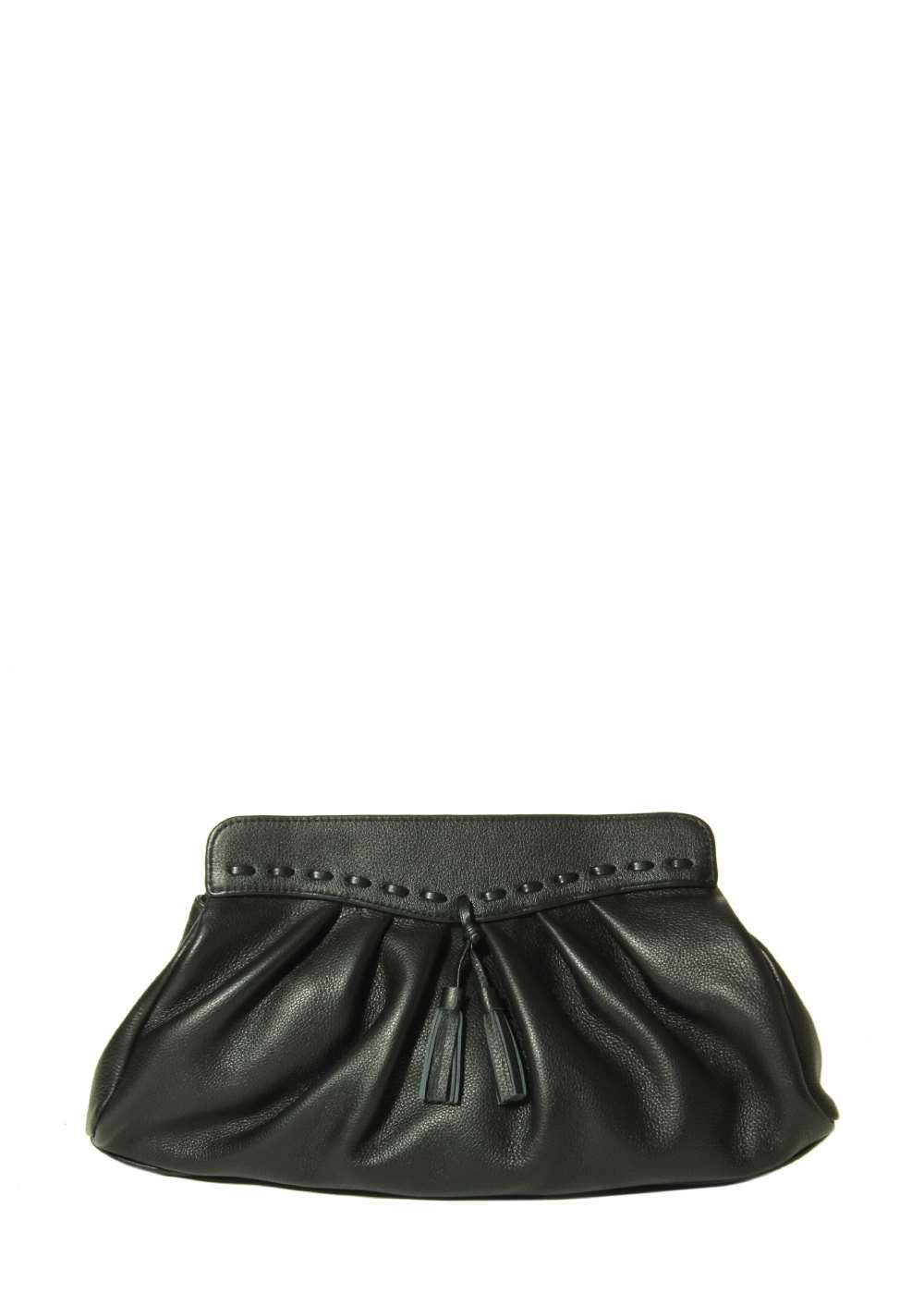 Marmi Exclusive Bella Black Nappa Clutch